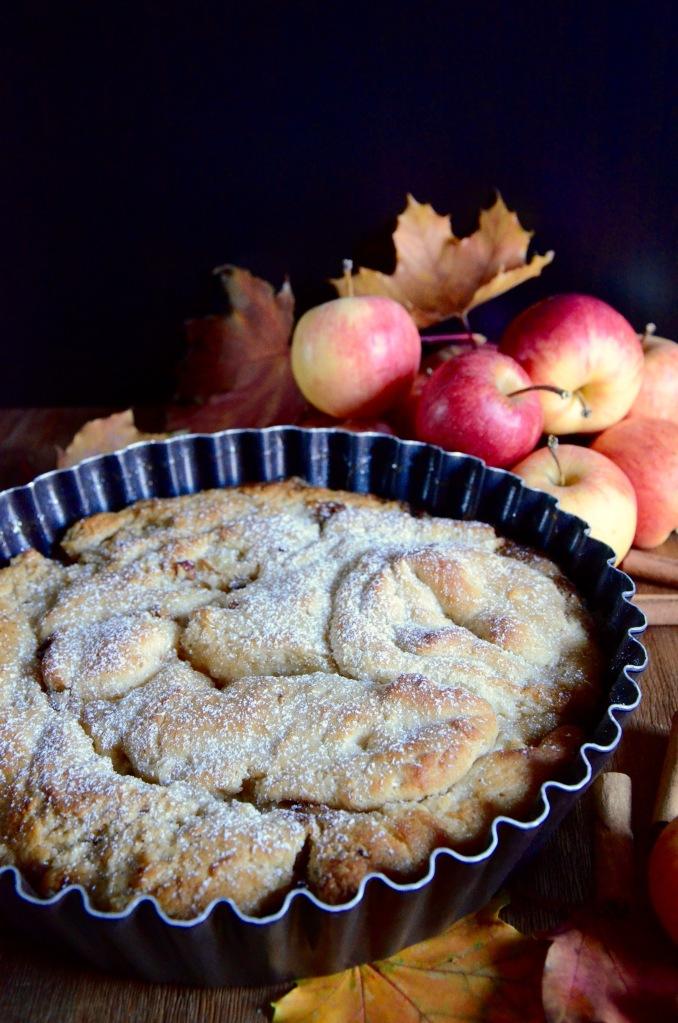 gâteau rustique brioché aux pommes